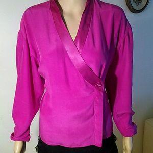Tops - Diane Gilman silk blouse, size 8